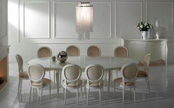 Jadalnia W Stylu Glamour Krzesła I Stoły Dv Homecollection